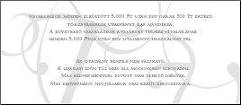 BorNívó törzsvásárlói utalvány hátlap